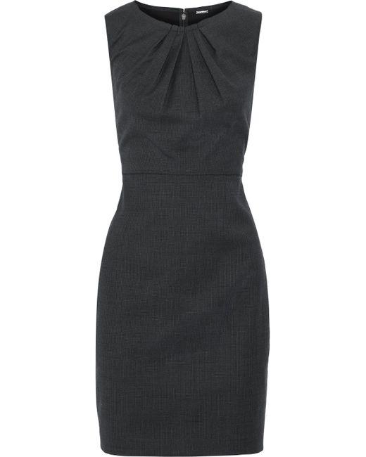 Elie Tahari - Black Rosario Houndstooth Wool-blend Mini Dress - Lyst