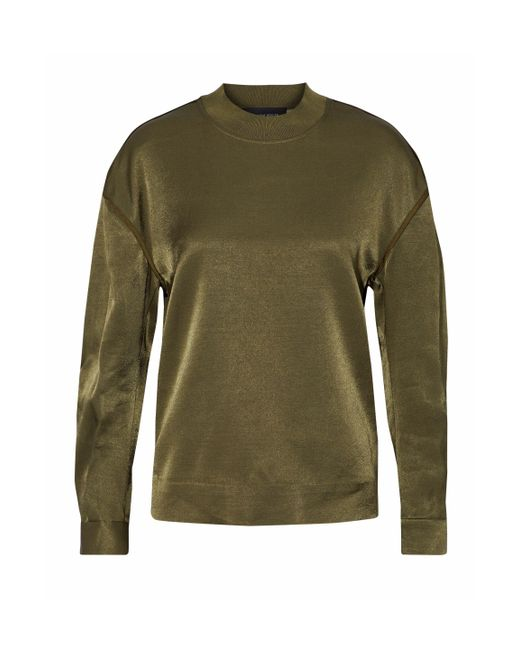 By Malene Birger - Green Chiccis Ruched Satin Top - Lyst