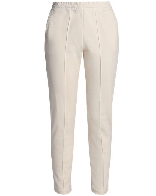 T By Alexander Wang - White Mélange Cotton-jersey Track Pants - Lyst