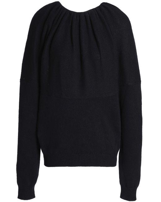 Jil Sander - Black Gathered Cashmere Sweater - Lyst
