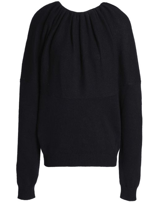 Jil Sander - Woman Gathered Cashmere Sweater Black - Lyst