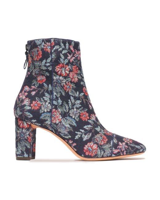 Alexandre Birman - Blue Jacquard Ankle Boots - Lyst