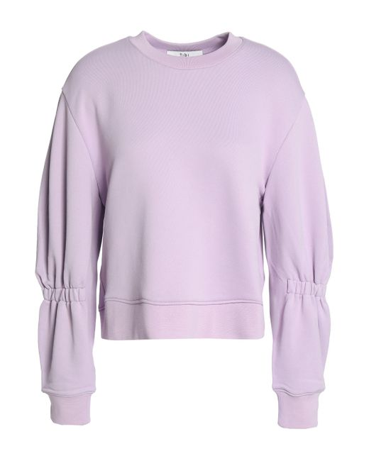 Tibi - Purple Shirred French Terry Sweatshirt - Lyst
