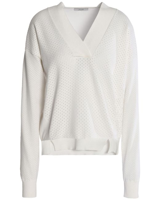 House of Dagmar - Multicolor Woman Sooz Open-knit Sweater Off-white Size S - Lyst