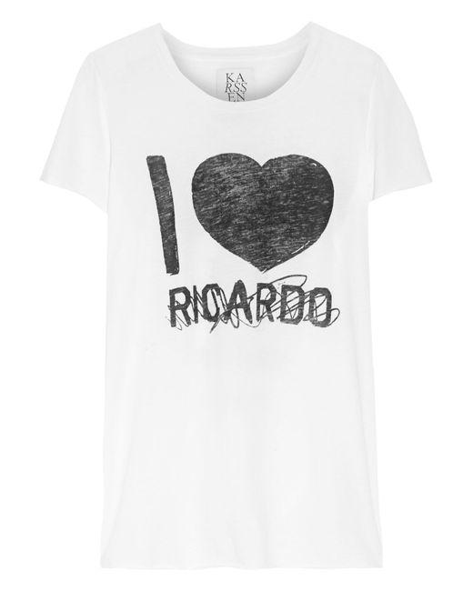 Zoe Karssen | White Ricardo Cotton And Modal-blend Jersey T-shirt | Lyst