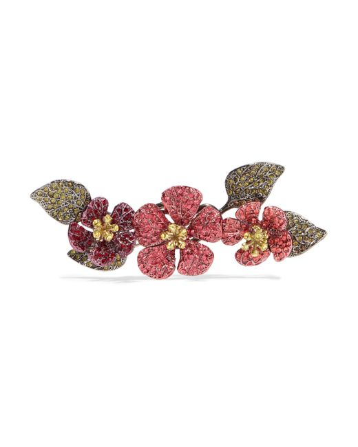 Valentino - Multicolor Hawaiian Couture Crystal, Gold-tone And Gunmetal-tone Brooch - Lyst