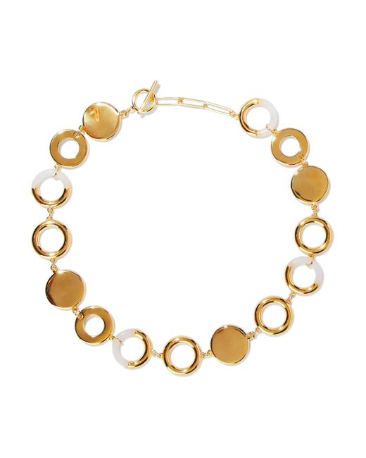 Noir Jewelry - Metallic Woman Steady Glow 14-karat Gold-plated Resin Necklace Gold - Lyst