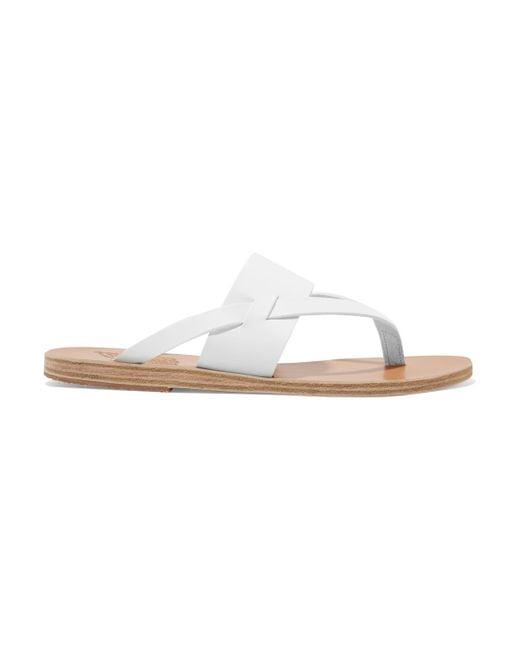 Ancient Greek Sandals - White Zenobia Leather Sandal - Lyst
