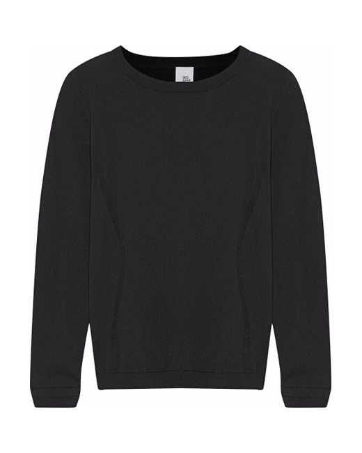 Iris & Ink - Black Cotton And Cashmere-blend Sweater - Lyst