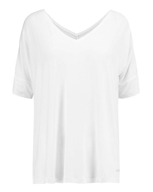 DKNY - White Stretch-modal Pajama Top - Lyst