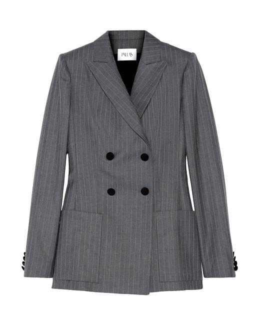 Pallas | Blue Junon Pinstriped Double-breasted Wool Blazer | Lyst