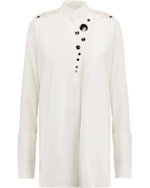 Ellery - White Visual Wonder Silk-blend Shirt - Lyst