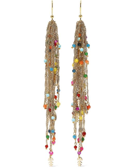 Rosantica - Metallic Arsella Gold-tone Beaded Earrings - Lyst