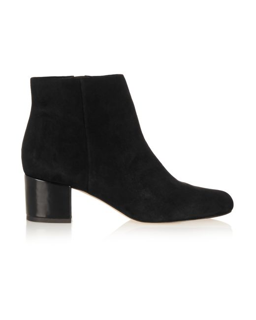 Sam Edelman | Black Edith Suede Chunky-heel Bootie | Lyst