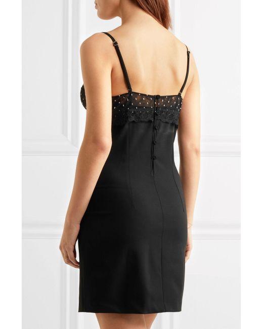 La perla black camisole dress