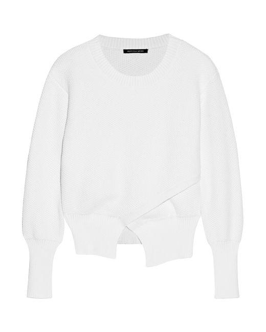 Marissa Webb | White Eva Honeycomb-knit Cotton Sweater | Lyst