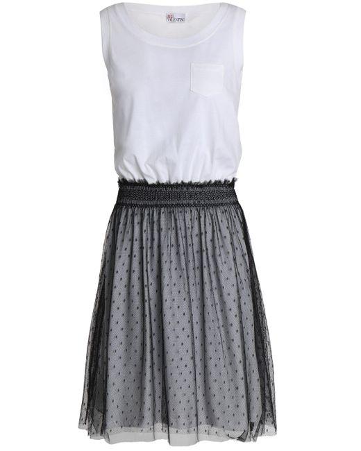 RED Valentino - White Tiered Cotton-jersey Dress - Lyst