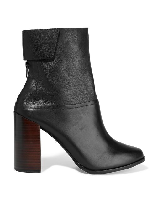 Atelje71 | Black Madson Paneled Leather Ankle Boots | Lyst