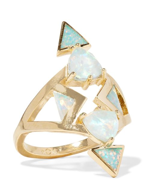 Noir Jewelry | Metallic Gold-tone Opal Ring | Lyst