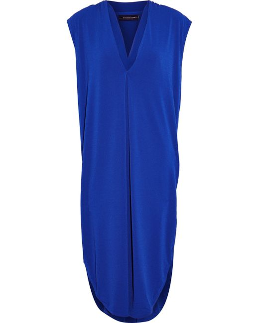 By Malene Birger - Blue Gathered Crepe Dress - Lyst