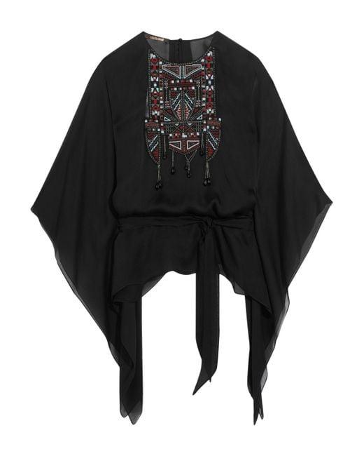 Roberto Cavalli - Black Embellished Silk-chiffon Kaftan - Lyst