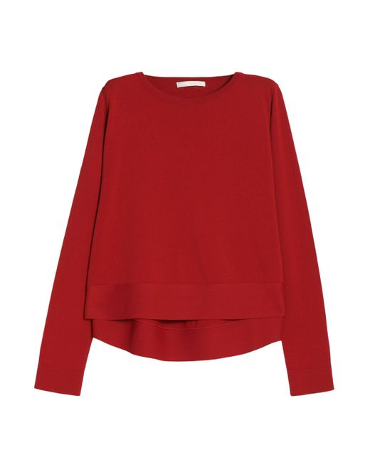 Antonio Berardi - Red Crepe Top - Lyst