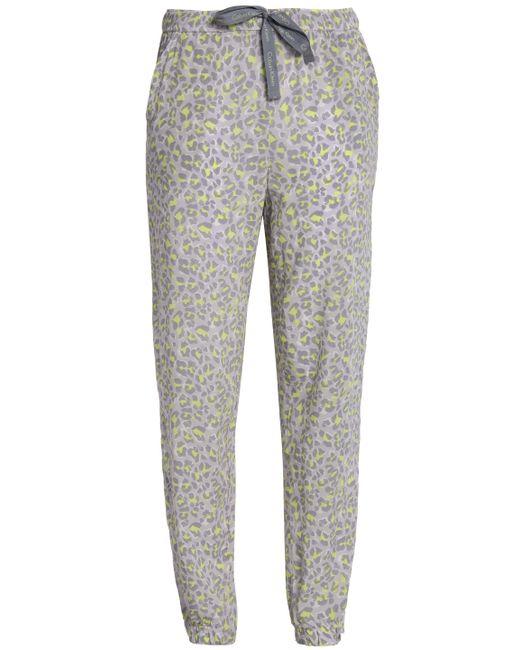 Calvin Klein - Gray Printed Crepe Pajama Pants - Lyst