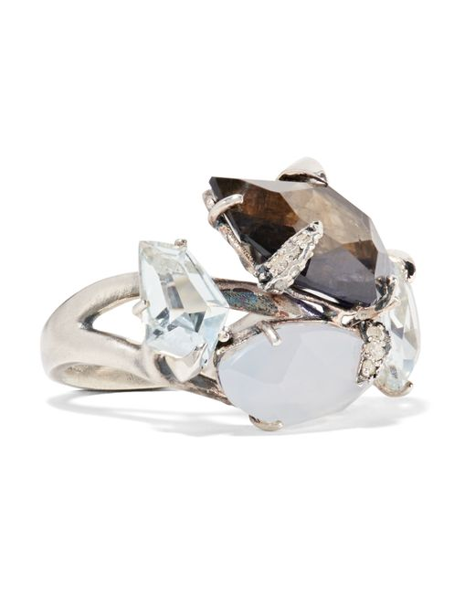 Alexis Bittar | Metallic Sterling Silver Multi-stone Ring | Lyst
