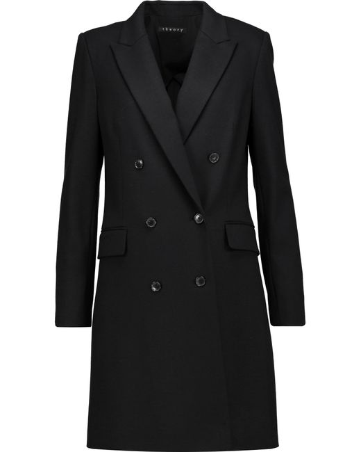 Theory | Black Irma Wool-blend Coat | Lyst