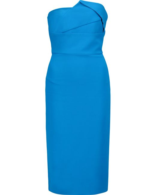 Roland Mouret | Blue Esther Crepe Mini Dress | Lyst