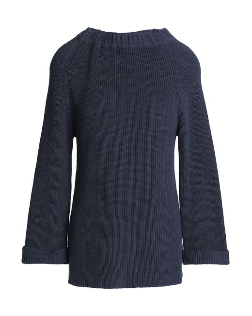 Goat - Ribbed Cotton Sweater Midnight Blue - Lyst