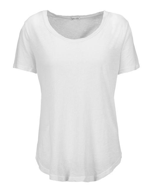 splendid slub supima cotton t shirt in white lyst