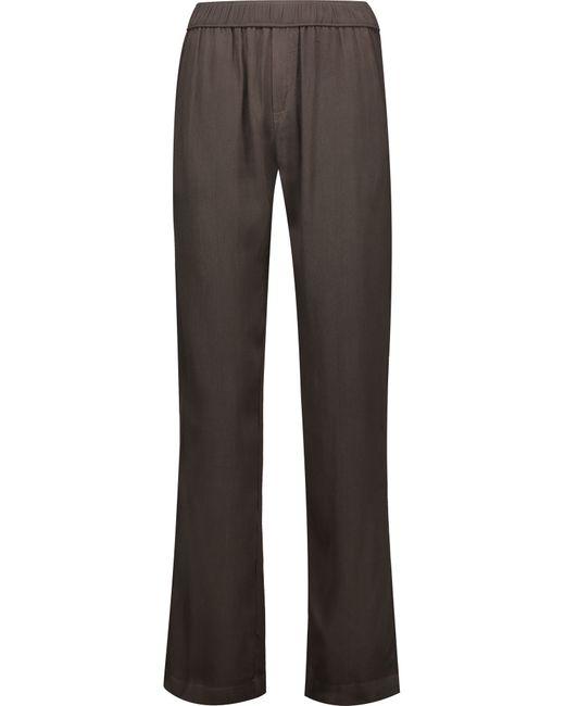 Enza Costa | Green Crepe Straight-leg Pants | Lyst