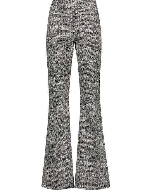 Lela Rose | Black Printed Cottonblend Skinny Pants | Lyst