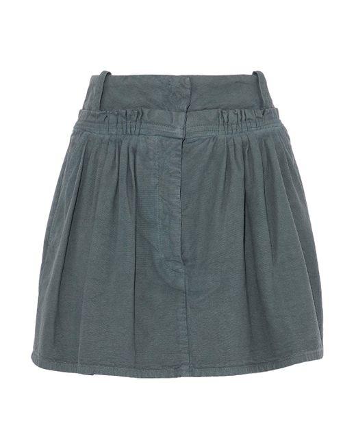 J.W. Anderson - Multicolor Pleated Cotton-canvas Mini Skirt - Lyst
