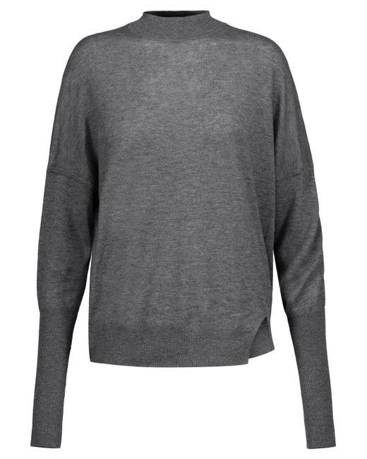 J Brand - Gray Acacia Wool-blend Turtleneck Sweater - Lyst