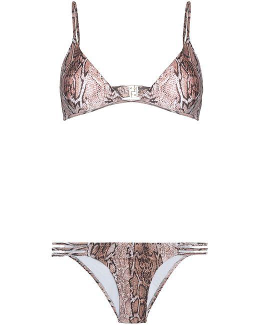 Melissa Odabash - Brown Cutout Triangle Bikini - Lyst