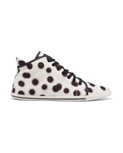 Marc By Marc Jacobs | White Polka-dot Canvas High-top Sneakers | Lyst