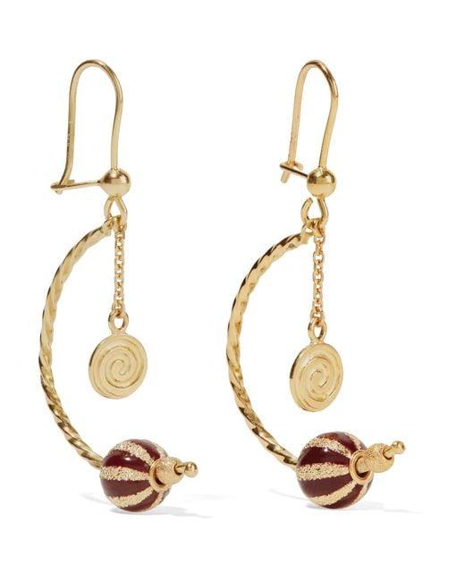 Carolina Bucci | Metallic Carnevale 18-karat Gold And Enamel Earrings | Lyst