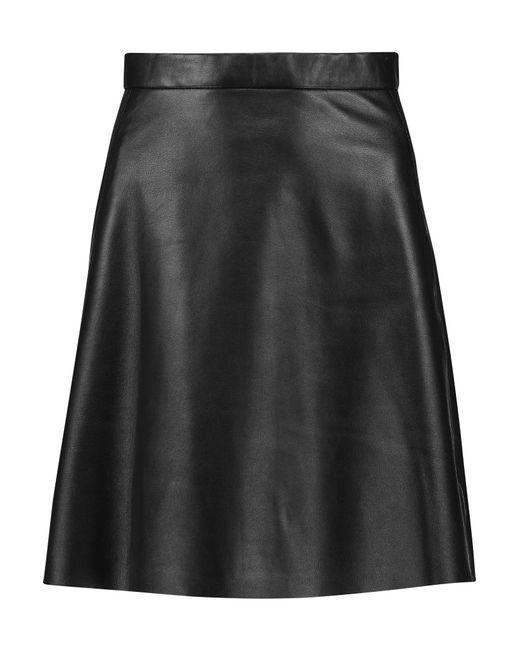 muubaa pannala leather mini skirt in black lyst