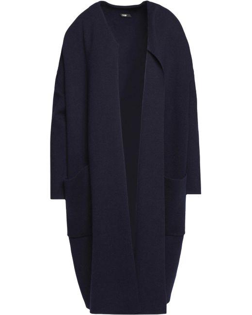 Maje - Blue Stretch-knit Coat - Lyst
