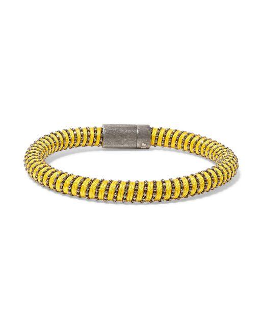 Carolina Bucci - Yellow Gunmetal-tone Woven Bracelet - Lyst