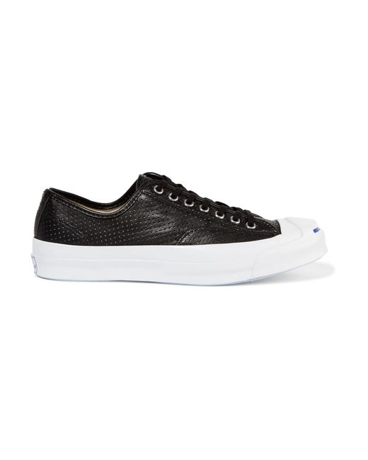 Converse | Black Jack Purcell Signature Perforated Leather Sneakers | Lyst