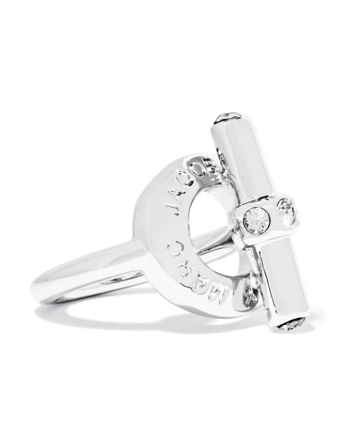 Marc By Marc Jacobs | Metallic Toggle Silver-tone Crystal Ring | Lyst