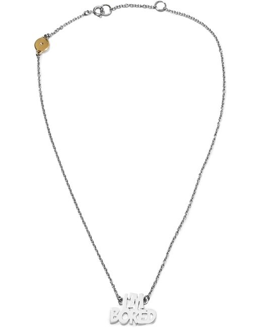 Marc By Marc Jacobs | Metallic I'm Bored Silver-tone Necklace | Lyst