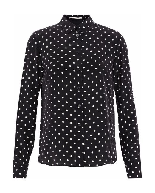 Outlet Find Great Metallic-trimmed Silk Crepe De Chine Shirt - Black Stella McCartney Websites For Sale Buy Cheap With Mastercard Classic Sale Online ZV3j9Vt