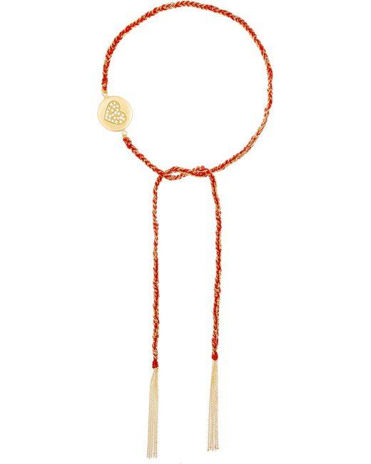 Carolina Bucci | Red Love Lucky 18-karat Gold Diamond Bracelet | Lyst