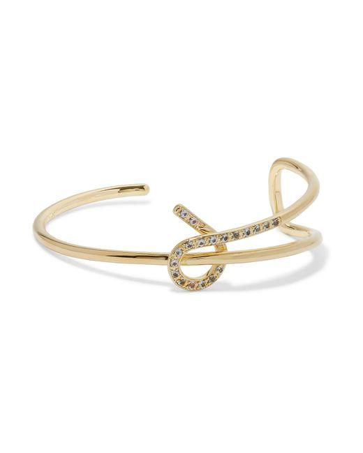 Elizabeth and James   Metallic Lucent Gold-tone Crystal Bracelet   Lyst