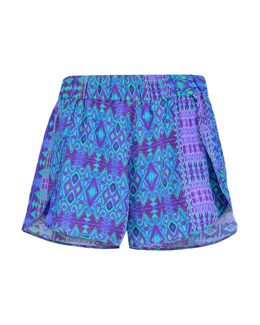 Matthew Williamson | Blue Petal Printed Silk-crepe Shorts | Lyst