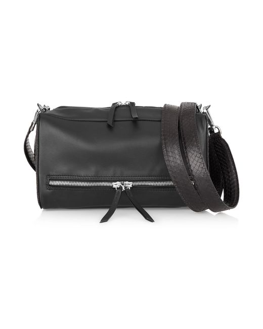 Maison Margiela | Black Convertible Leather And Watersnake Shoulder Bag | Lyst